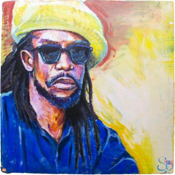 """Rastafari - Sante Bentivoglio - 36"""" x 36"""""""