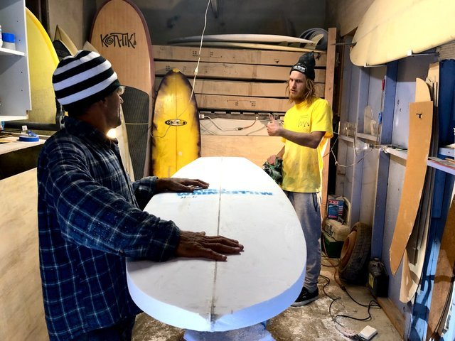 Shaping boards with Chano Alvarez