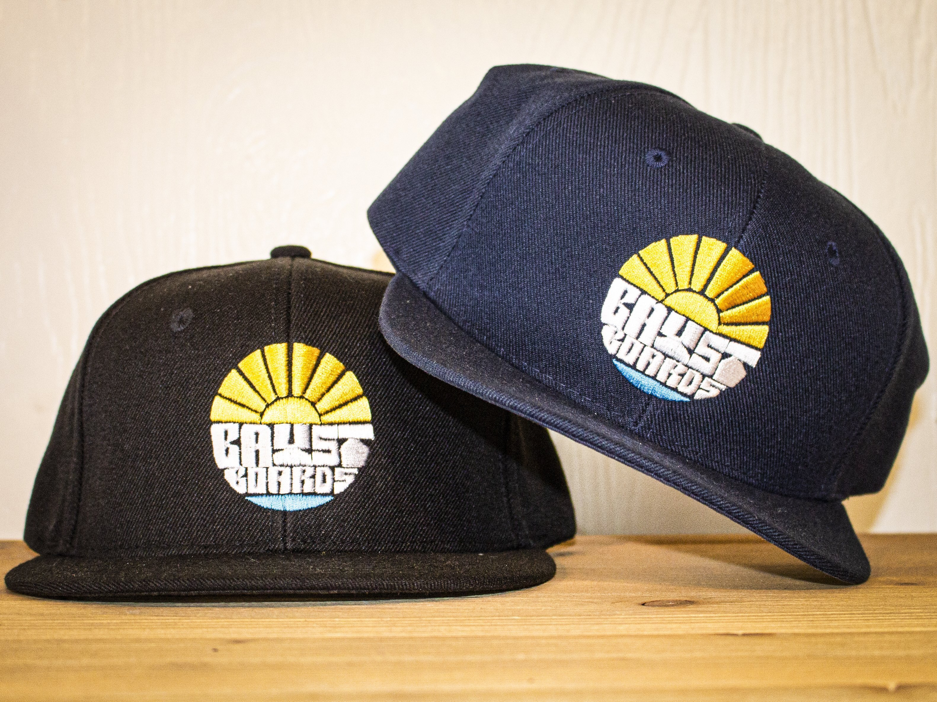 """Bay Street """"Sun Bay"""" Snapback Hat - Yellow Stitching"""
