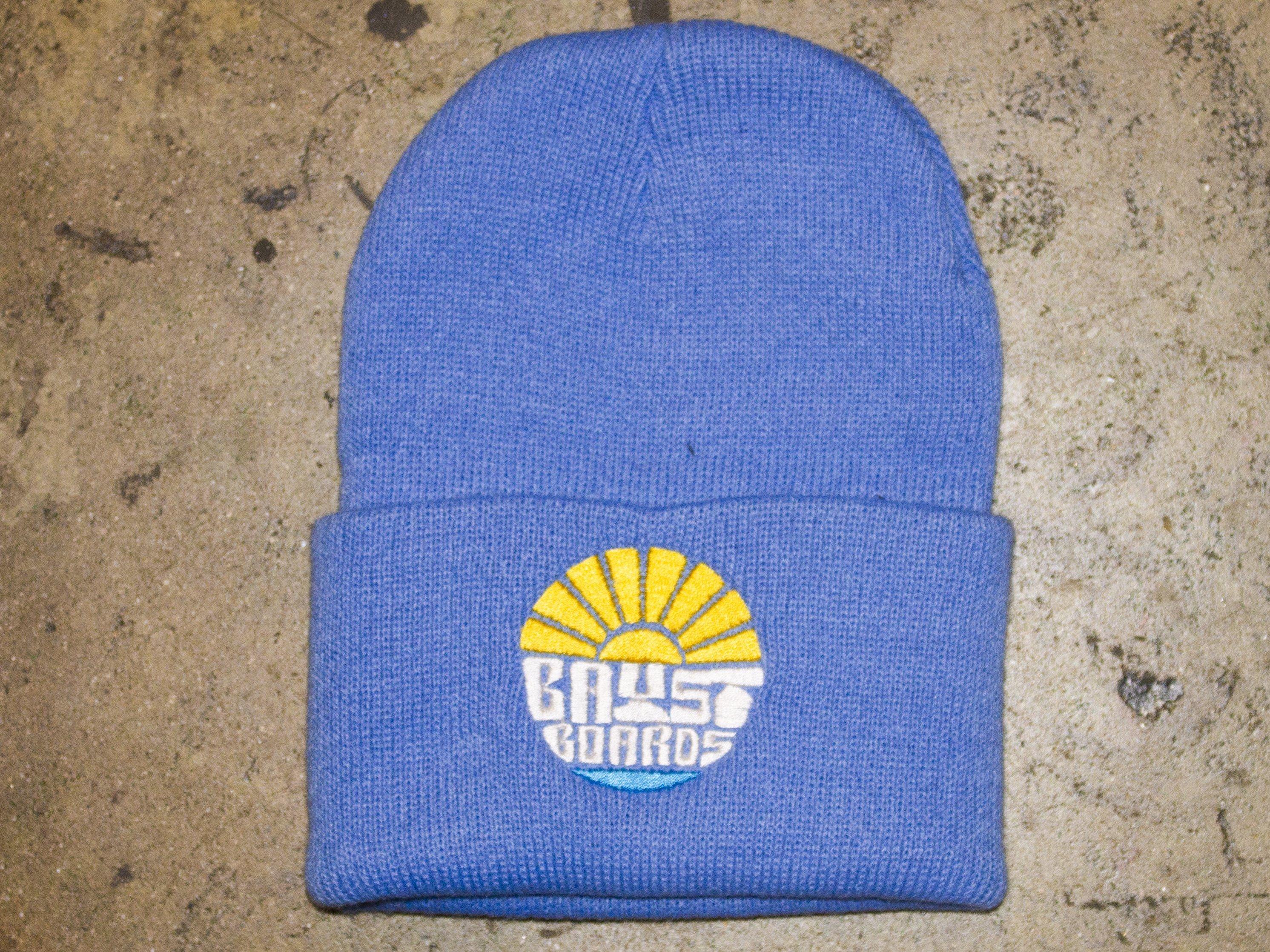 "Bay Street ""Sun Bay"" Beanies -- Yellow Stitching"