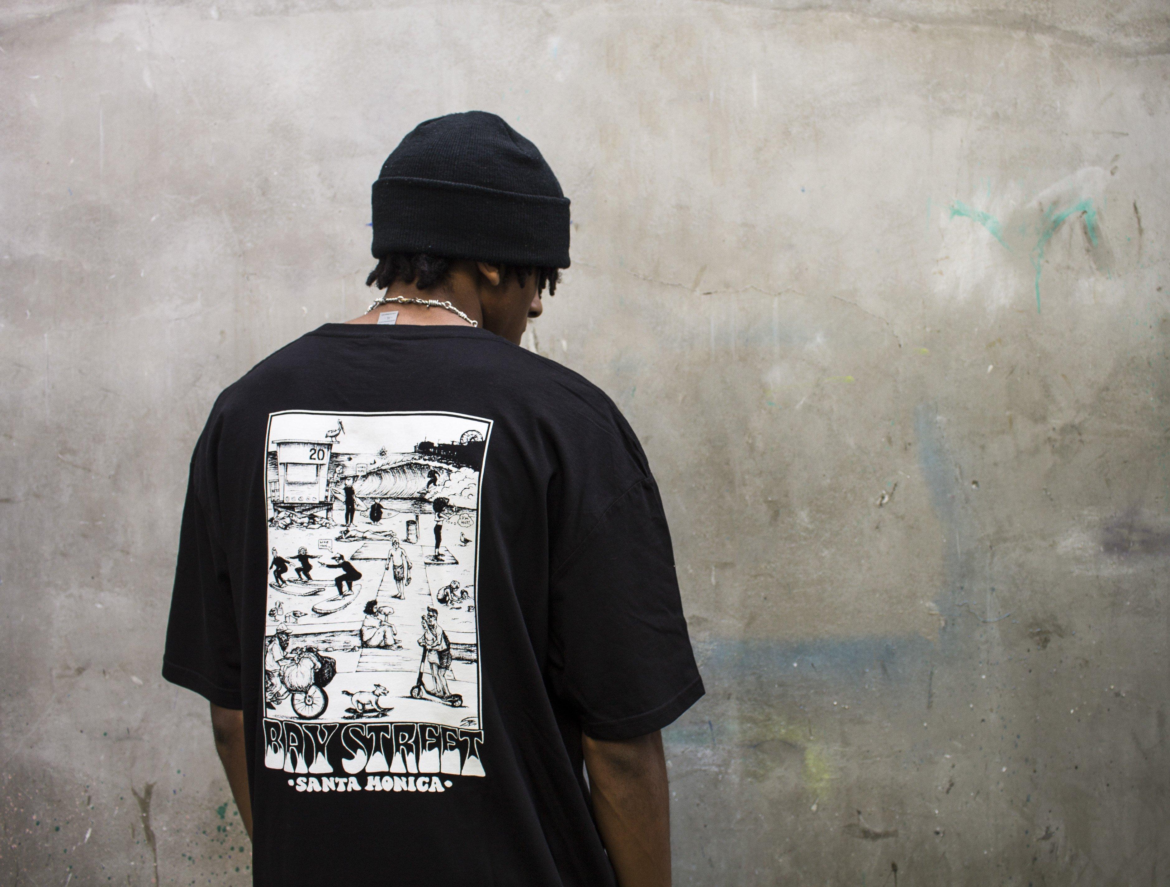 """Bay Street """"A Day At Bay"""" T-Shirt -- Black"""
