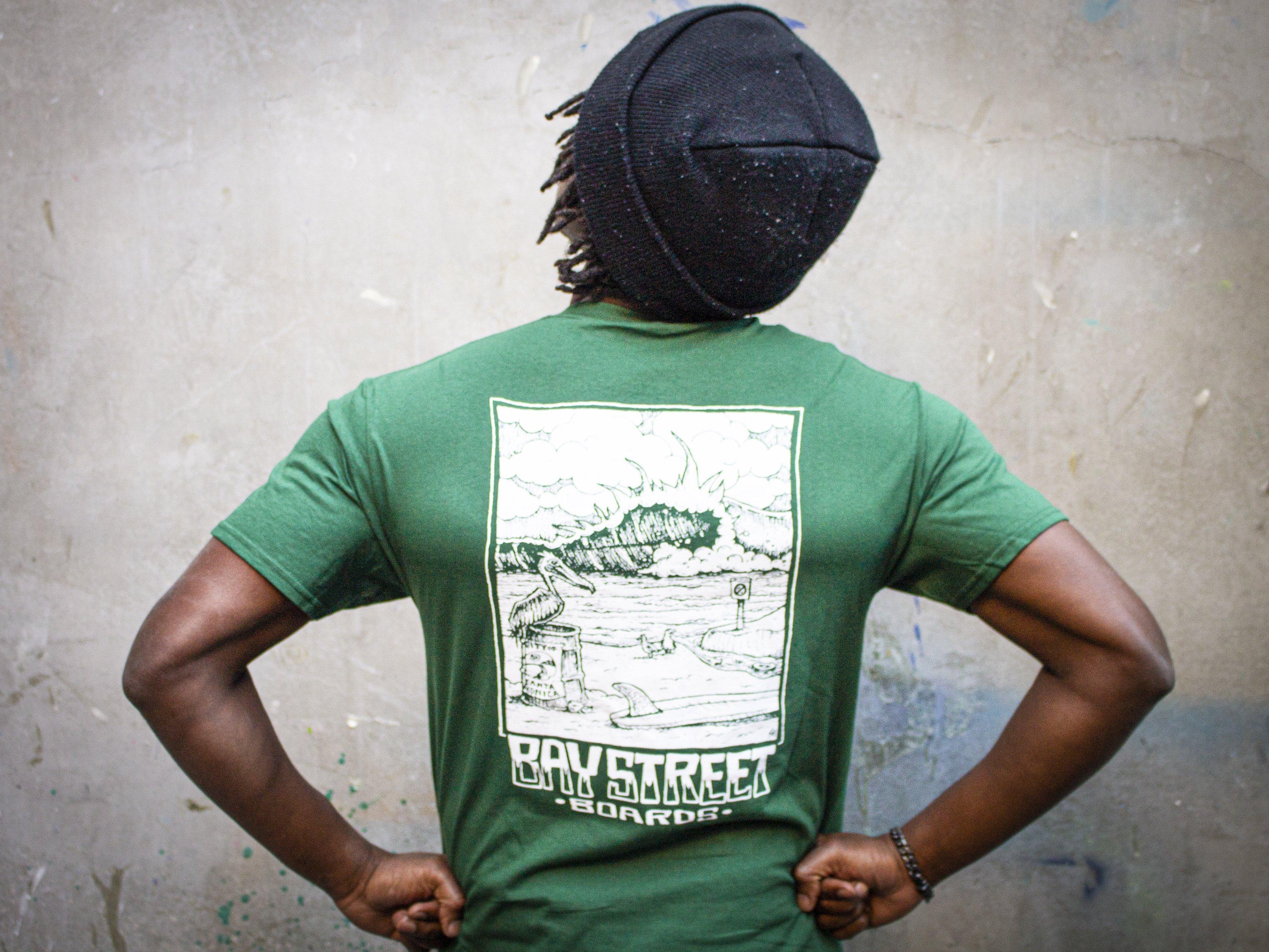 "Bay Street ""Pelican Bay"" T-Shirt -- Emerald"