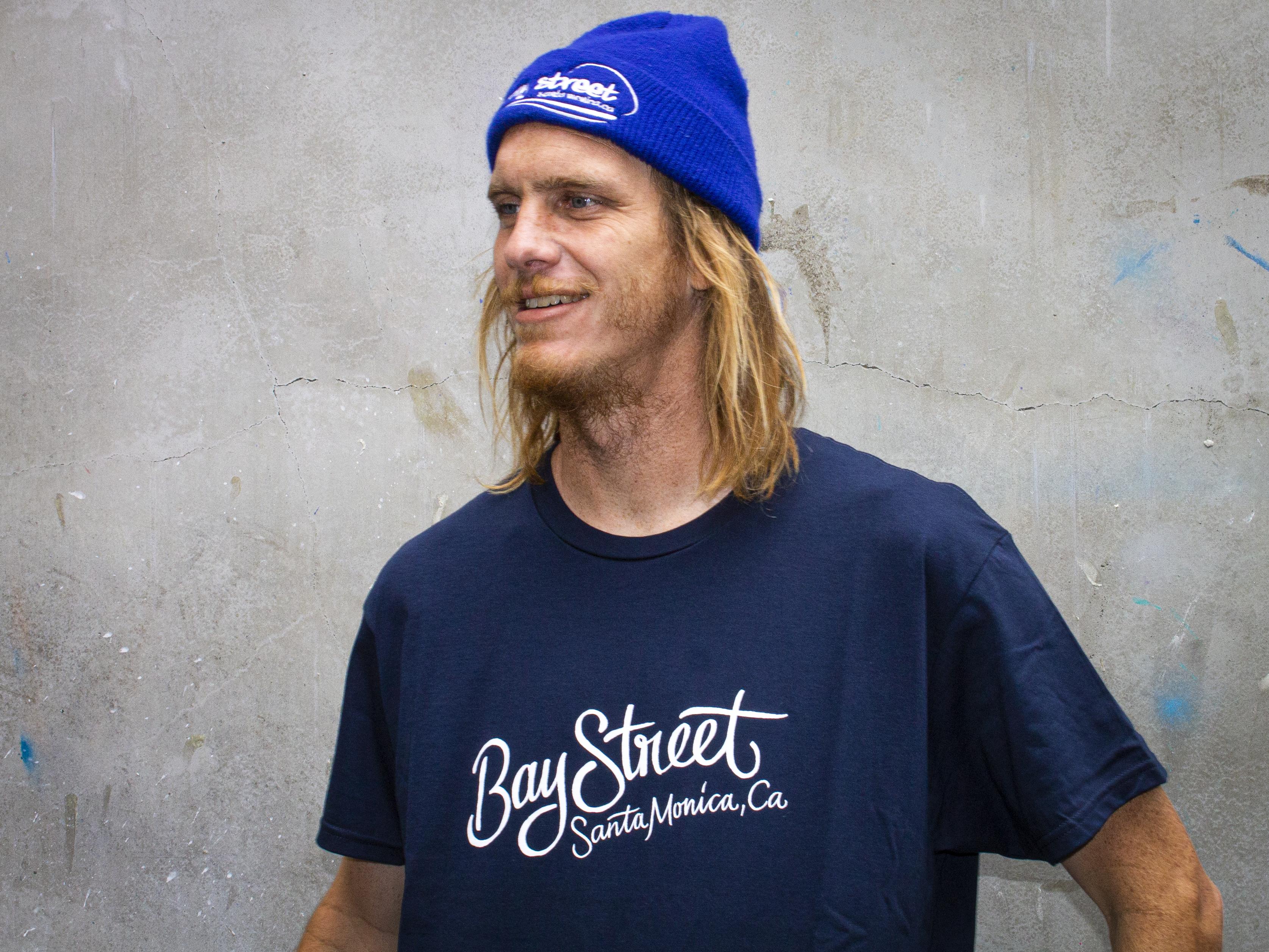 "Bay Street ""Cursive"" T-Shirt -- Navy"