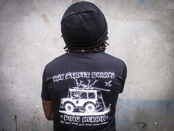 """Bay Street """"Ding Repair"""" T-Shirt -- Black"""